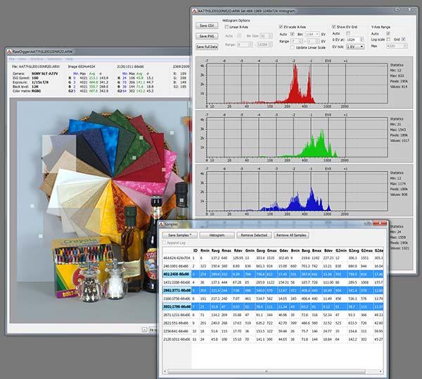RawDigger for Mac OS X full screenshot