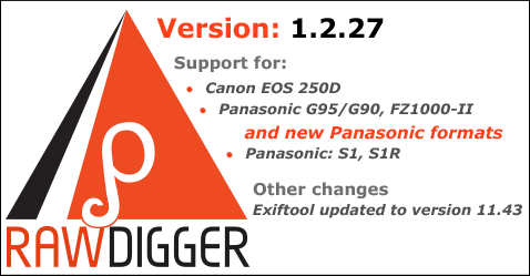 RawDigger 1.2.27 Beta