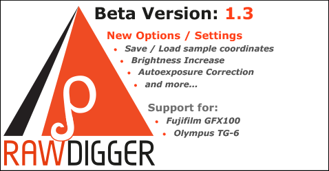 RawDigger 1.3. Beta