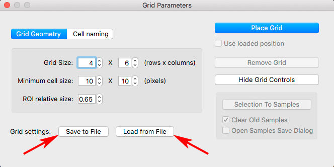 RawDigger 1.4. Save Grid to File / Load Grid from file